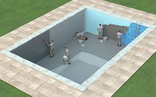 reparar la piscina