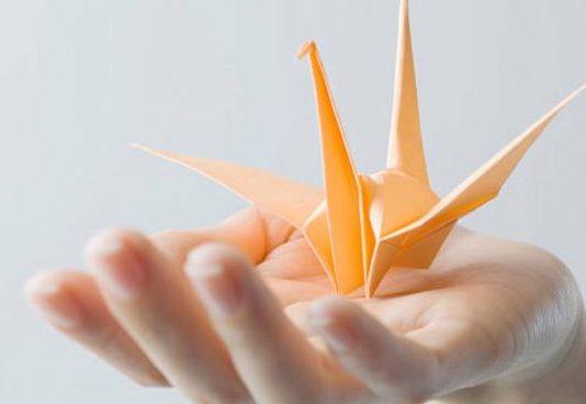 grullas de papel