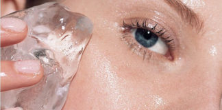 hielo para la cara