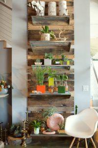 decoración estanteria palets